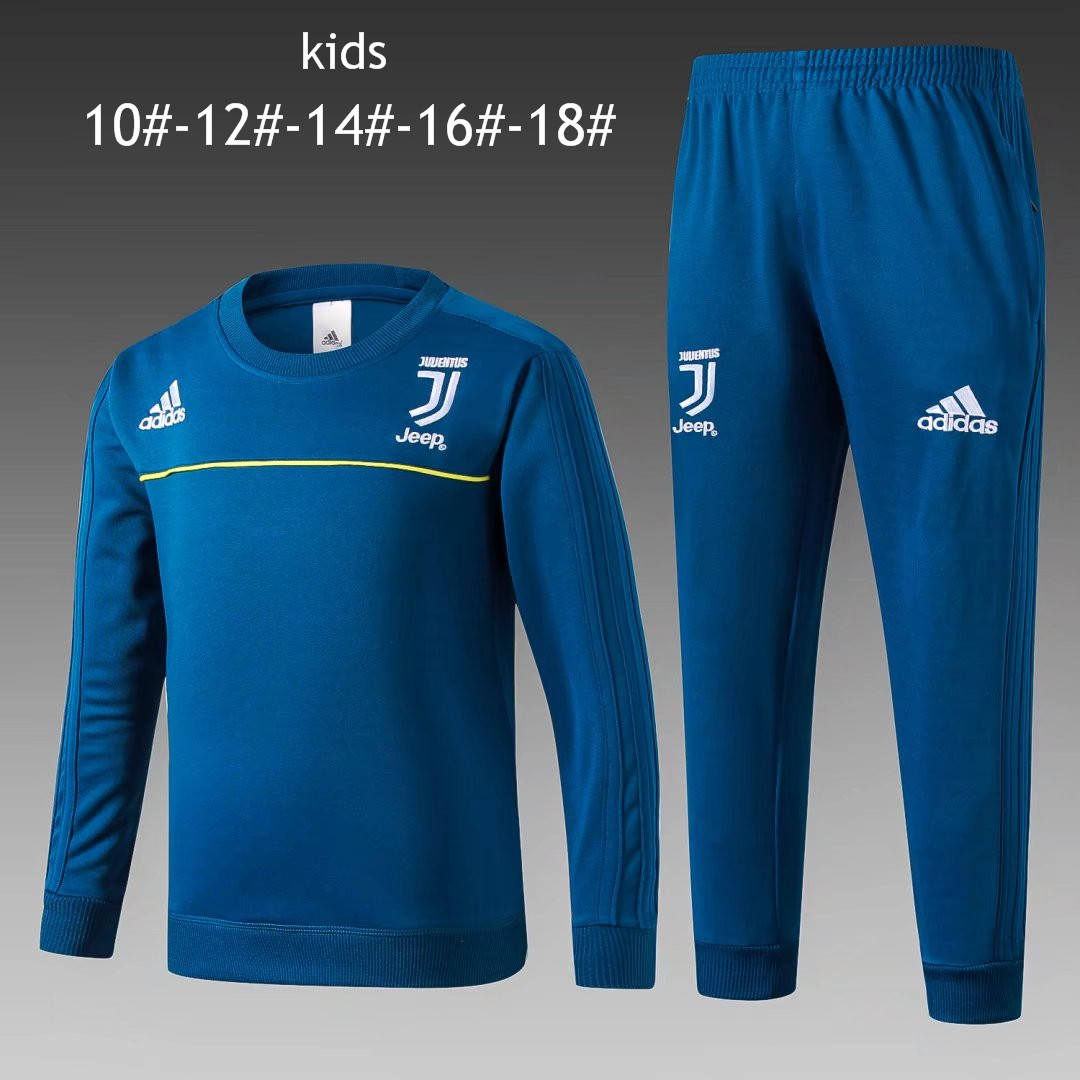Kids Juventus 2017-18 O'Neck Blue Tracksuit