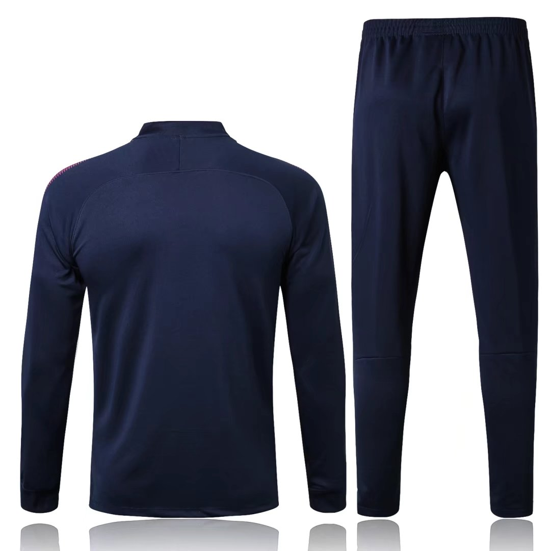 Manchester City 2017-18 Navy Track Suits (Jacket+Trouser ...