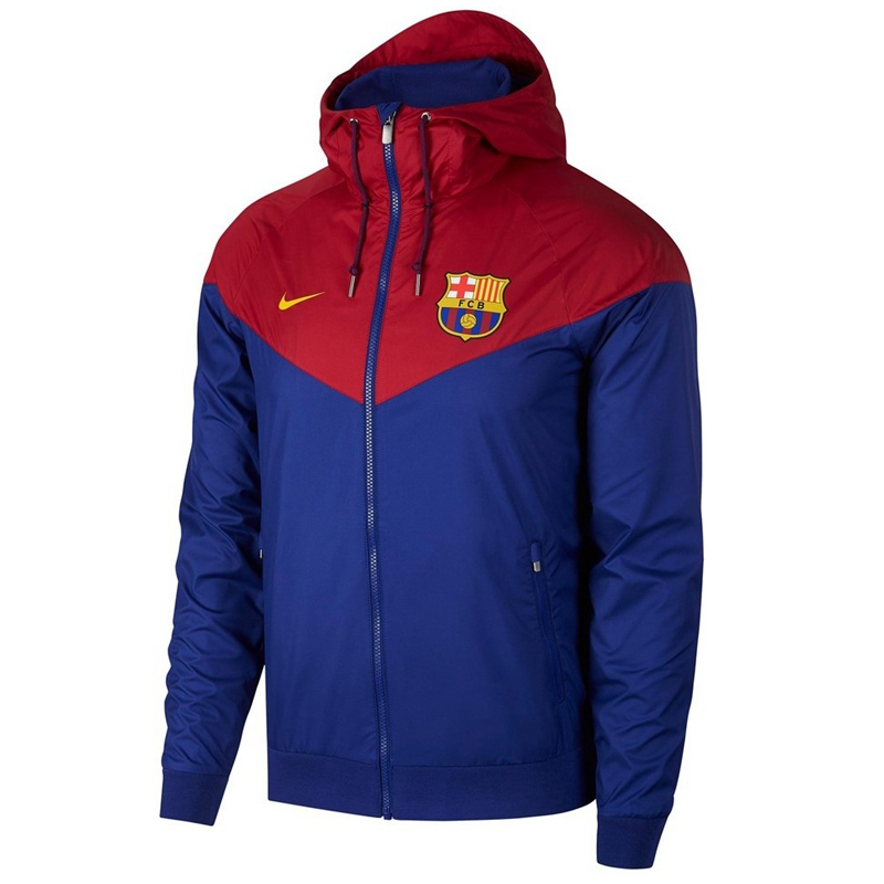 Barcelona Woven Windrunner 2018-19 Blue Red