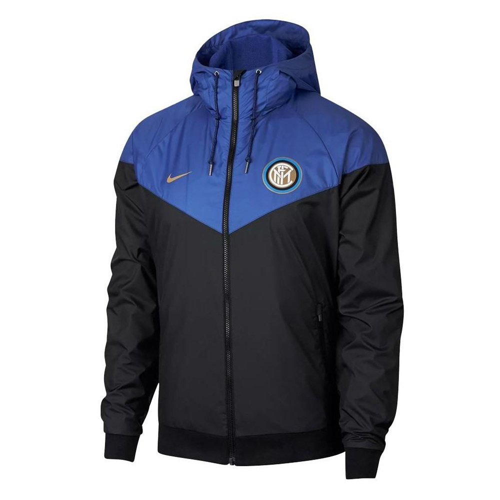 Inter Milan Woven Windrunner 2018-19 Blue Black