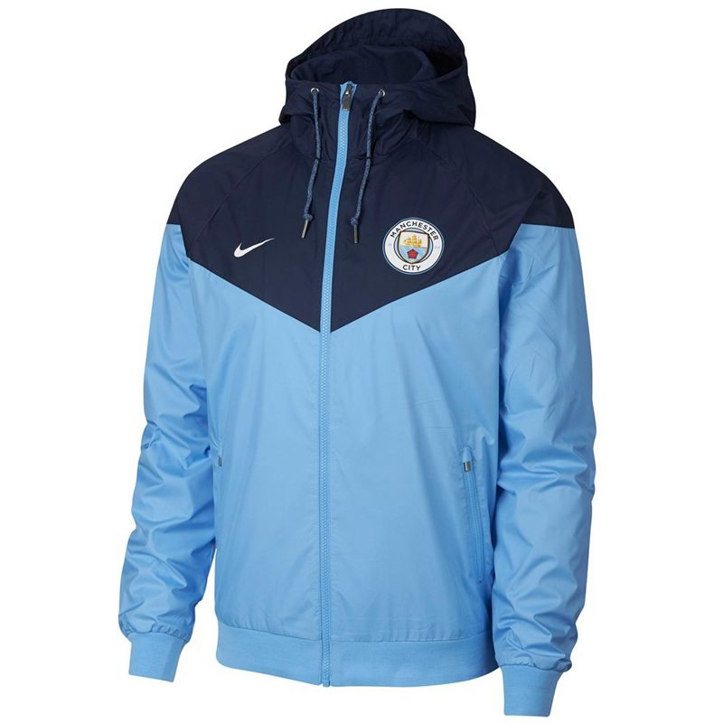 Manchester City Woven Windrunner 2018-19 Blue Navy
