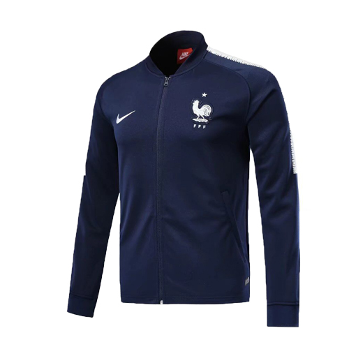 France Training Jacket Top Navy 2018 World Cup