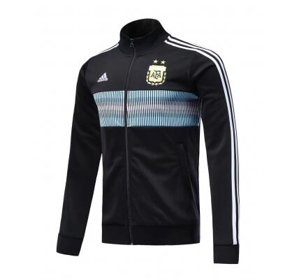 Argentina Track Jacket Top Black 2018 World Cup