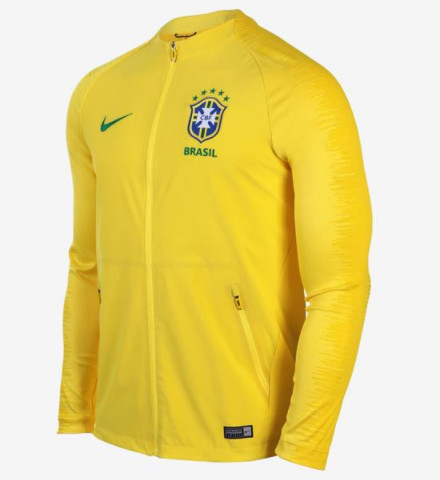 Brazil Training Jacket 2018 World Cup Yellow