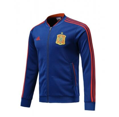 Spain Track Jacket Top Blue 2018 World Cup
