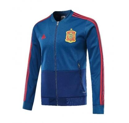 Spain Training Jacket Top Blue 2018 World Cup