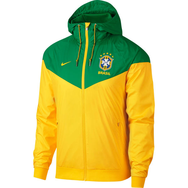 Brazil Windbreaker Jacket 2018 World Cup Yellow