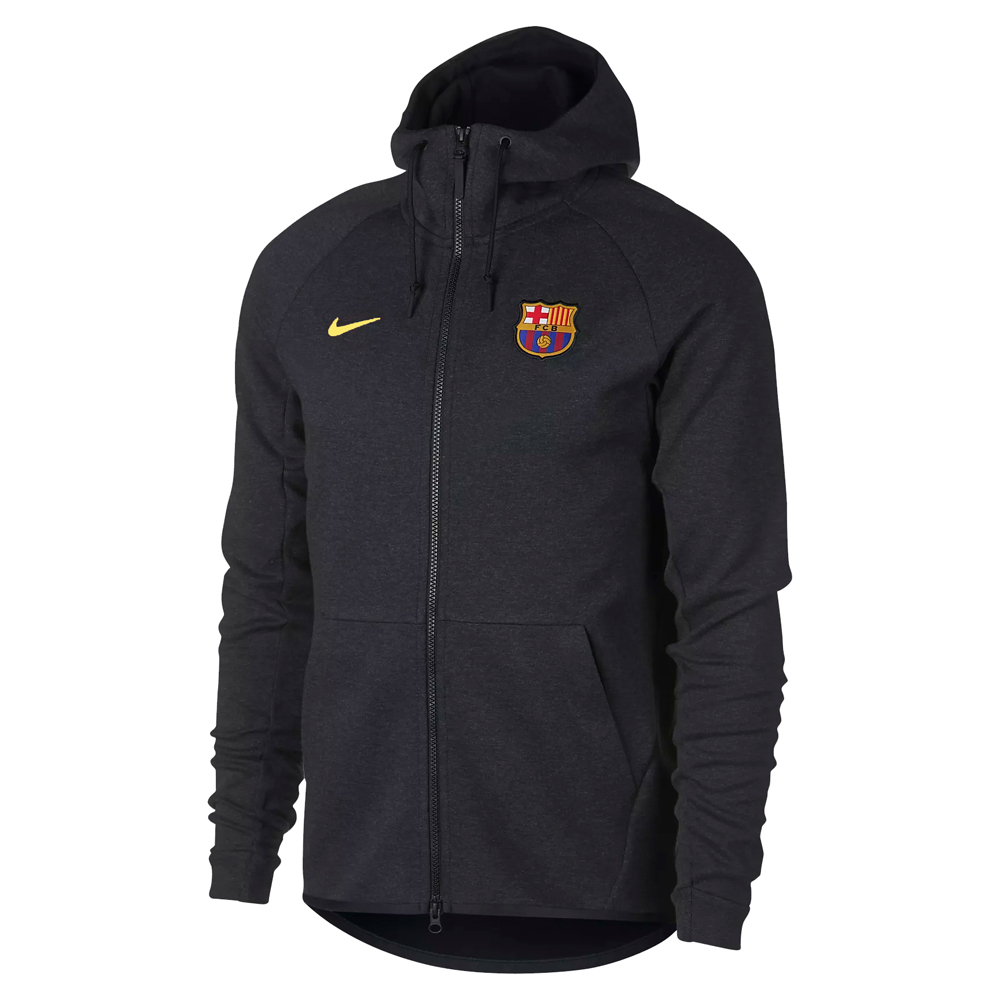 Barcelona 2017-18 Grey Full Zip Hoodie Jacket