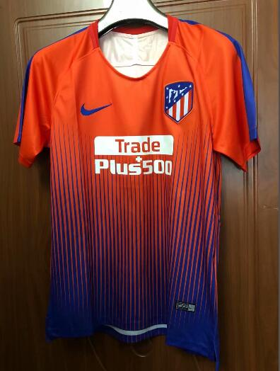 Atletico Madrid Training Jersey Shirt 2018-19 Orange Blue