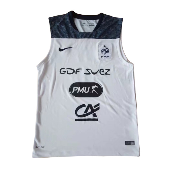 France 2017 White Training Sleeveless Shirt