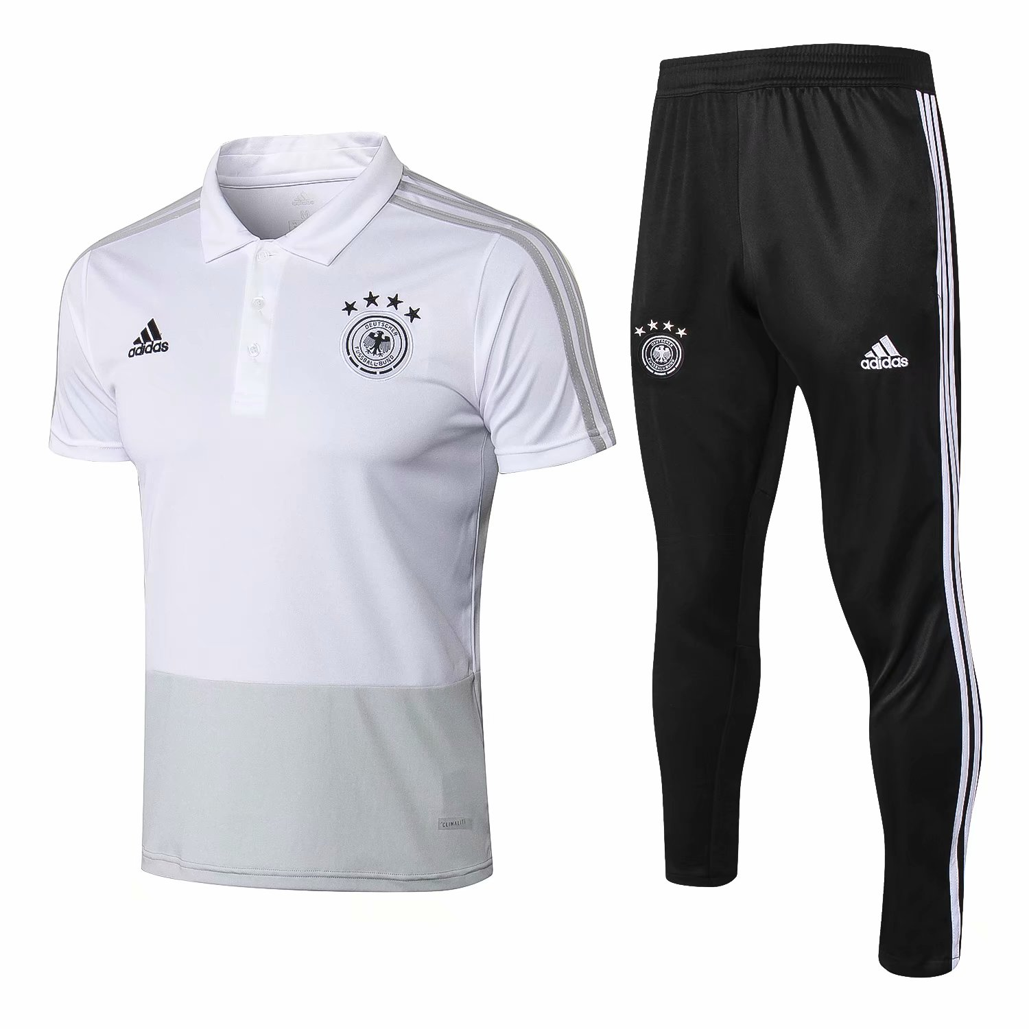 Germany Training Suit 2018-19 White Polo Shirt + Pants