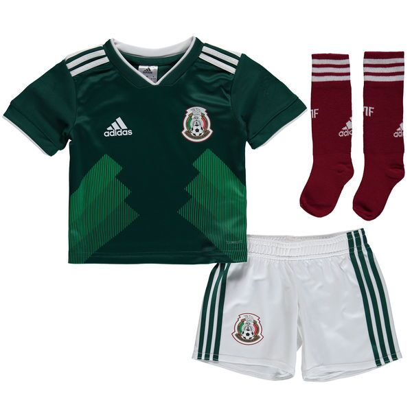 Mexico Kids Soccer Jersey 2018 World Cup Home Children Football Kits (Shirt + Shorts + Socks)