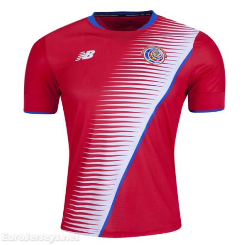 Costa Rica 2017-18 Home Shirt Soccer Jersey
