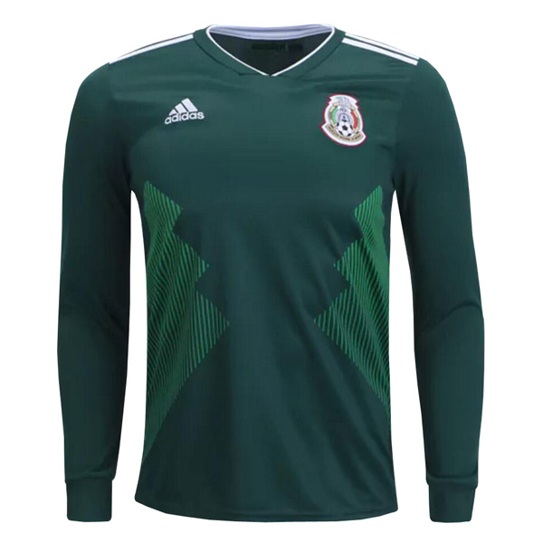 Mexico 2018 World Cup Home Long Sleeved Shirt Soccer Jersey